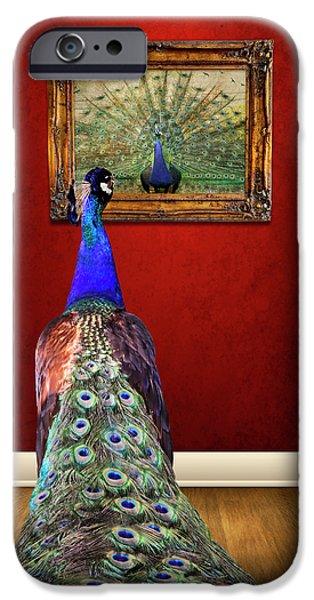 Oil Portrait Photographs iPhone Cases - Self Portrait iPhone Case by Steven  Michael