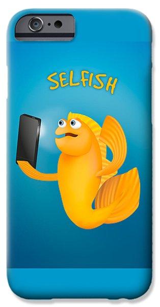 Technology iPhone Cases - Selfish iPhone Case by Shai Biran
