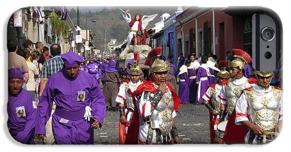 Holy Week iPhone Cases - Semana Santa Procession I iPhone Case by Kurt Van Wagner
