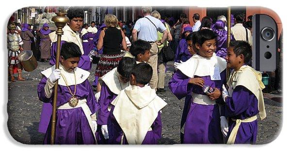 Holy Week iPhone Cases - Semana Santa Procession II iPhone Case by Kurt Van Wagner