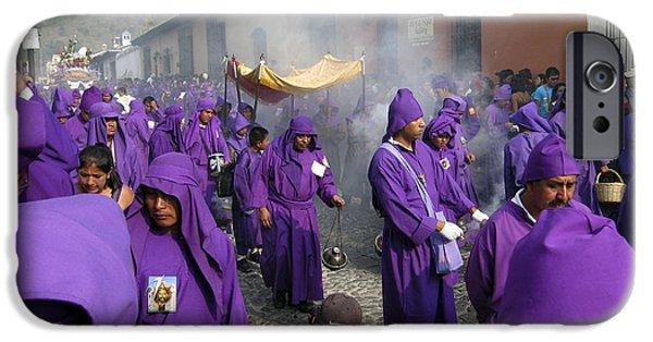 Holy Week iPhone Cases - Semana Santa Procession IV iPhone Case by Kurt Van Wagner