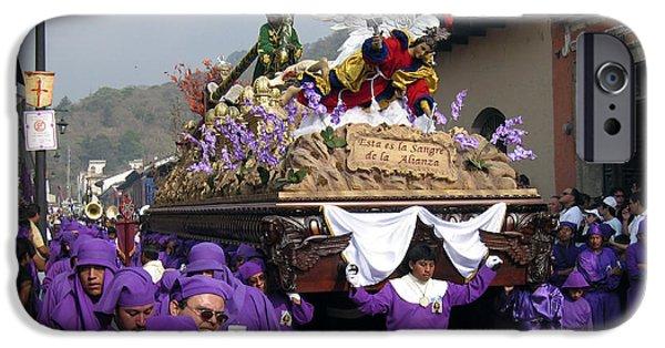 Holy Week iPhone Cases - Semana Santa Procession V iPhone Case by Kurt Van Wagner