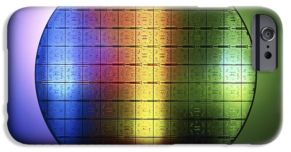 Integrated Photographs iPhone Cases - Semiconductor Wafer iPhone Case by Pasieka