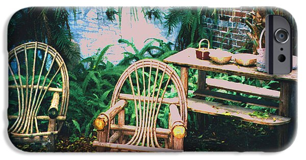 Furniture iPhone Cases - Seminole Indian Made Outdoor Furniture iPhone Case by Merton Allen