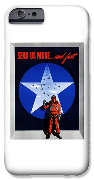 Air iPhone Cases - Send Us More and Fast -- WW2  iPhone Case by War Is Hell Store