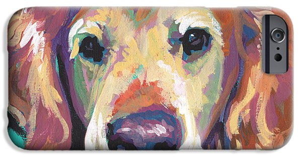 Kids Art Paintings iPhone Cases - Senior and Golden iPhone Case by Lea