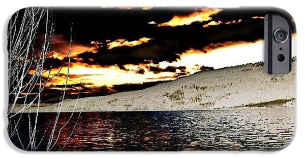 Willow Lake iPhone Cases - Sensational Winter Sunset iPhone Case by Will Borden