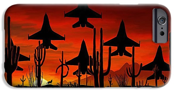 Coyote Art iPhone Cases - Sentinels iPhone Case by David Wagner