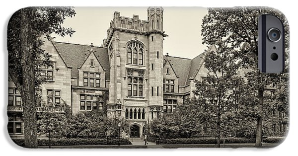 University Of Washington iPhone Cases - Sepia Photograph of the University of Chicago Ryerson Physical Laboratory - Chicago Illinois  iPhone Case by Silvio Ligutti