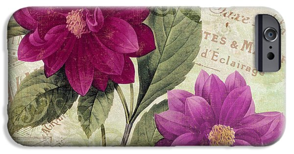 Fuschia iPhone Cases - September Dahlias iPhone Case by Mindy Sommers