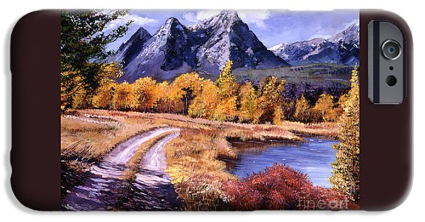 Peaceful Scenery iPhone Cases - September High Country iPhone Case by David Lloyd Glover