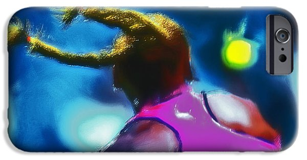French Open iPhone Cases - Serena Smash iPhone Case by Brian Reaves