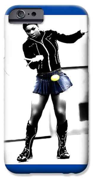 French Open iPhone Cases - Serena Williams 03b iPhone Case by Brian Reaves