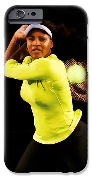 French Open iPhone Cases - Serena Williams Bamm iPhone Case by Brian Reaves