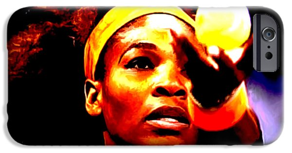 French Open iPhone Cases - Serena Williams First Round iPhone Case by Brian Reaves