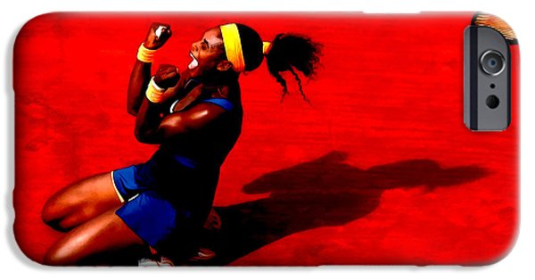 French Open iPhone Cases - Serena Williams French Open Victory iPhone Case by Brian Reaves