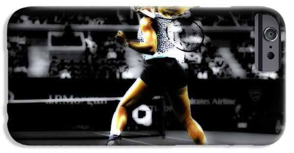 Wta iPhone Cases - Serena Williams Taking Over iPhone Case by Brian Reaves