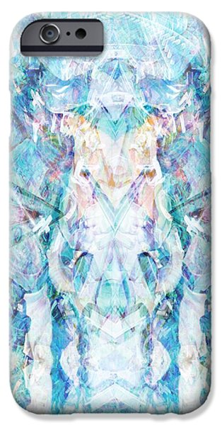 Kaleidoscopic Paintings iPhone Cases - Serendipity iPhone Case by Beth Travers
