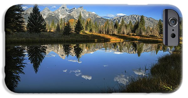 Morning iPhone Cases - Serene Autumn Morning at Grand Tetons iPhone Case by Vishwanath Bhat