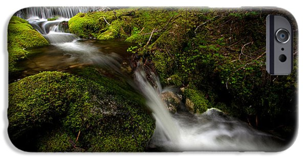 North Cascades iPhone Cases - Serene Creek iPhone Case by Mike Reid