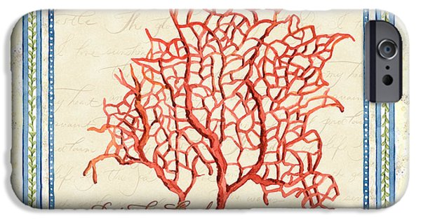 Summer iPhone Cases - Serene Shores - Red Fan Coral iPhone Case by Audrey Jeanne Roberts