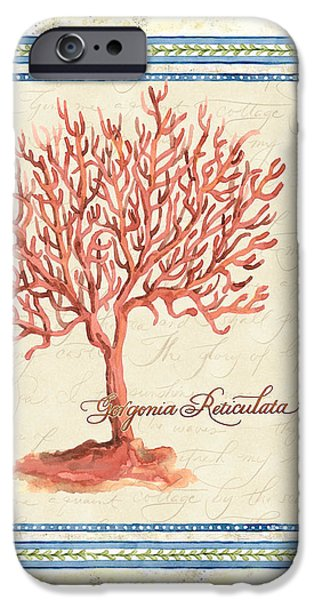 Summer iPhone Cases - Serene Shores - Red Tree Coral Gorgonia Reticulata  iPhone Case by Audrey Jeanne Roberts