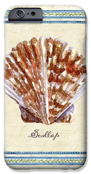Summer iPhone Cases - Serene Shores - Scallop Shell iPhone Case by Audrey Jeanne Roberts