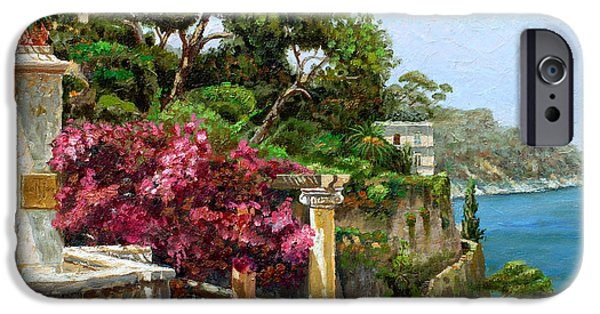 Column iPhone Cases - Serene Sorrento iPhone Case by Trevor Neal