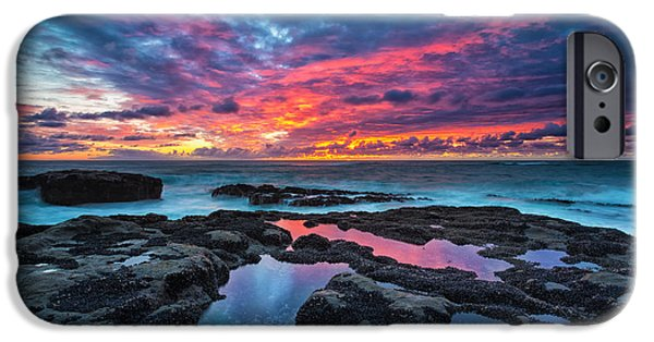 Ocean Sunset iPhone Cases - Serene Sunset iPhone Case by Robert Bynum