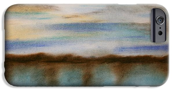 Impression Pastels iPhone Cases - Winter Afternoon iPhone Case by Terry  Hester