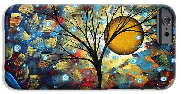 Online-art Paintings iPhone Cases - Serenity Falls by MADART iPhone Case by Megan Duncanson