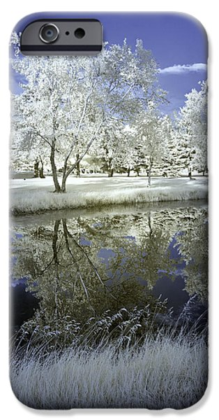 Abstract Digital Photographs iPhone Cases - Serenity iPhone Case by Fred Newman