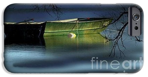 Canoe iPhone Cases - Serenity iPhone Case by Judy Rogero