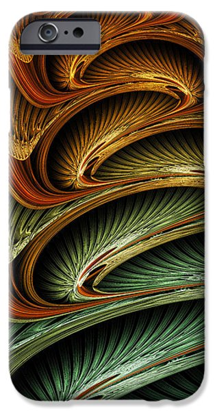 Modern Abstract iPhone Cases - Serpentine Fire - Abstract Art iPhone Case by Vic Eberly