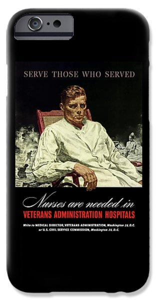 Nurse iPhone Cases - Serve Those Who Served iPhone Case by War Is Hell Store
