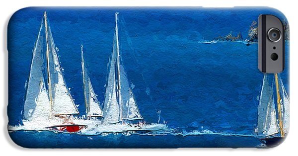 Seascape iPhone Cases - Set Sail iPhone Case by Anthony Fishburne