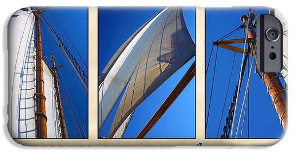 Sailboats iPhone Cases - Setting Sail Triptych iPhone Case by Bill Caldwell -        ABeautifulSky Photography