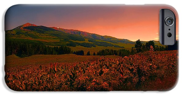 Red Rock iPhone Cases - Setting Sun in Crested Butte iPhone Case by Tom Potter