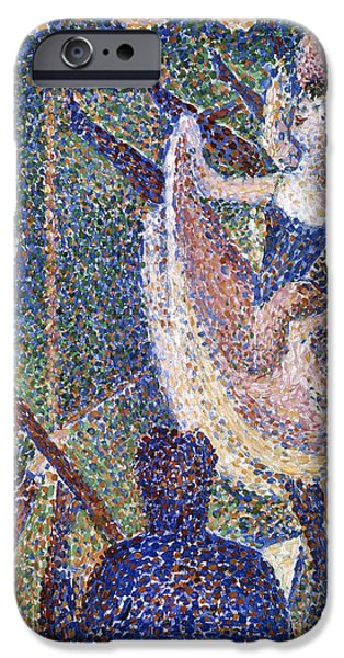 Seurat iPhone Cases - Seurat: Chahut Study, 1889 iPhone Case by Granger