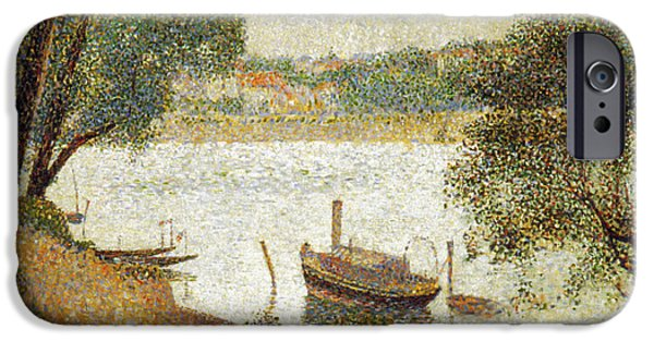 Seurat iPhone Cases - Seurat: Gray Weather iPhone Case by Granger