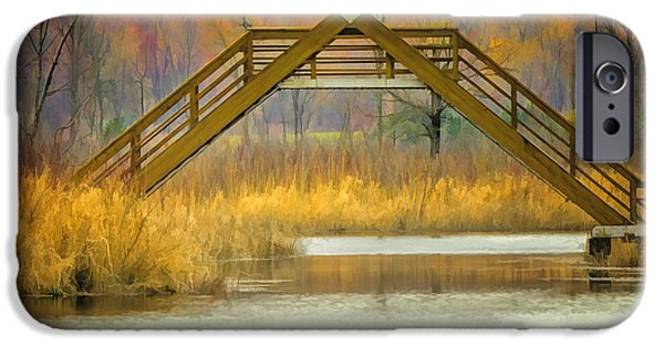 Nature Center Pond iPhone Cases - Seven Ponds A Frame Bridge iPhone Case by LeeAnn McLaneGoetz McLaneGoetzStudioLLCcom