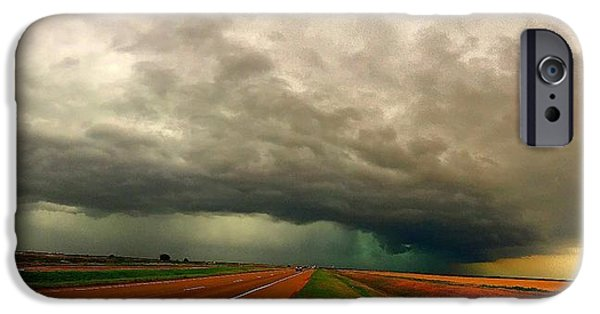 Raining iPhone Cases - Severe Storm Pano iPhone Case by Beth Carpenter