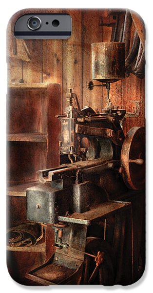 Sewing - Sewing Machine for Saddle Making iPhone Case by Mike Savad