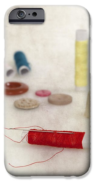 Thread iPhone Cases - Sewing Supplies iPhone Case by Joana Kruse