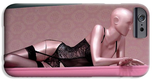 Model iPhone Cases - Sexi Pink Mannequin iPhone Case by Daniel Gomez