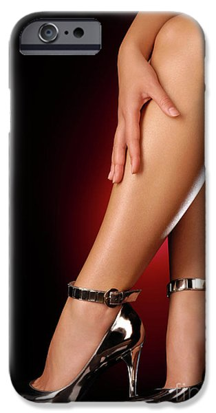 Cut-outs iPhone Cases - Sexy Shoes iPhone Case by Oleksiy Maksymenko