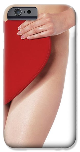 Sexy Young Woman With a Valentine Gift iPhone Case by Oleksiy Maksymenko