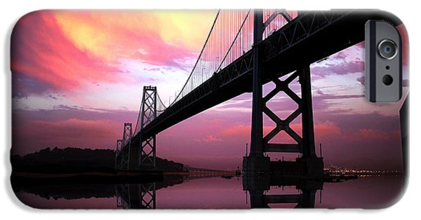Epic iPhone Cases - SF Sunset Over the Bay Bridge iPhone Case by Troy Young