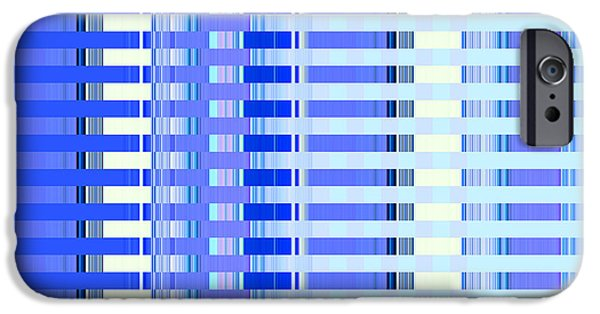 Town iPhone Cases - Shades of Blue Highrise iPhone Case by Ann Johndro-Collins