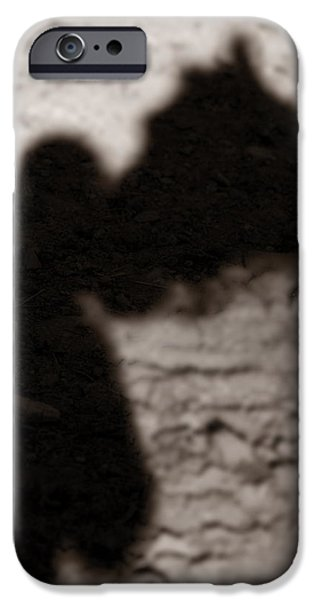 Shadow of Horse and Girl - Vertical iPhone Case by Angela Rath